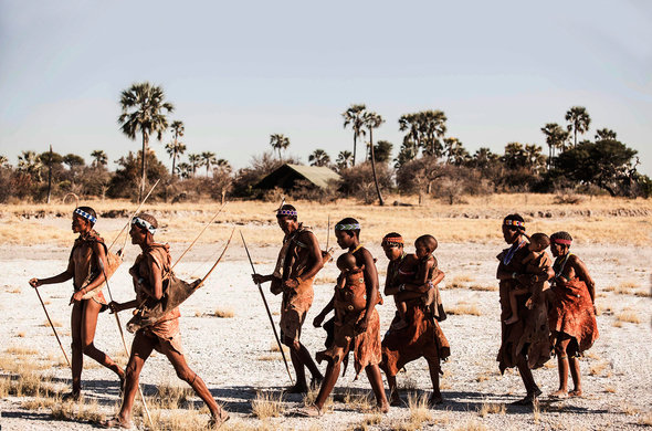 bushmen walks at jacks camp 590x390